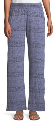 Ikat Print Stretch-Knit Pants Allen Allen Really Sale Finishline Store For Sale Free Shipping 100% Original Looking For For Sale kztILVBROx