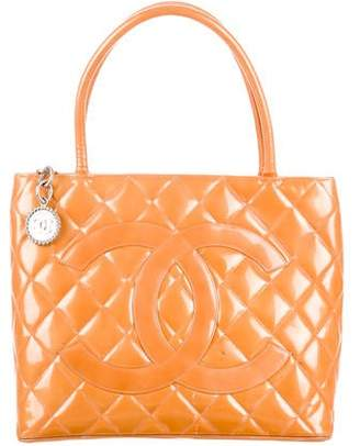 Chanel Patent Leather Medallion Tote