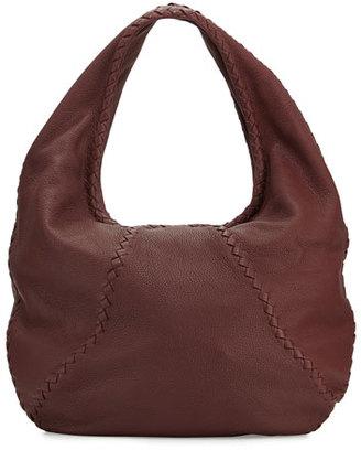 Bottega Veneta Cervo Large Leather Hobo Bag, Wine $1,780 thestylecure.com