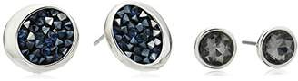 Kenneth Cole New York Black Diamond and Sprinkle Stud Earrings