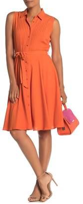 Nanette Lepore NANETTE Sleeveless Pintuck Knee-Length Dress