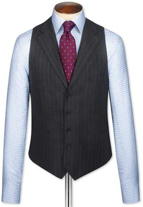 Charcoal Saxony Business Suit Wool Vest Size w36 by Charles Tyrwhitt