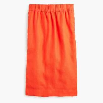 J.Crew Tall pull-on linen skirt