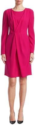 Armani Collezioni Women's Solid Pleated Dress