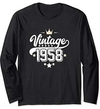 Vintage 1958 60th Birthday Long Sleeve Shirt