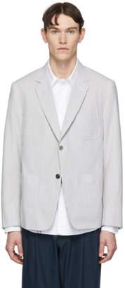 Thom Browne Grey Seersucker Sports Jacket