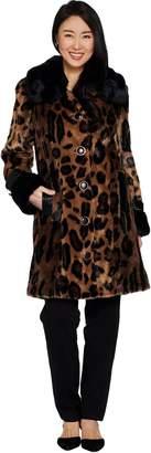 Dennis Basso Platinum Collection Animal Print Coat