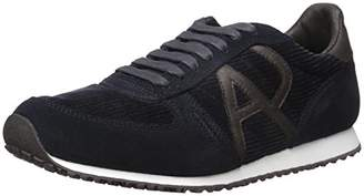 Armani Jeans Men's Courderoy Trainer Fashion Sneaker