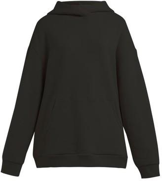 Raey Japanese Cotton Jersey Hooded Sweatshirt - Womens - Black