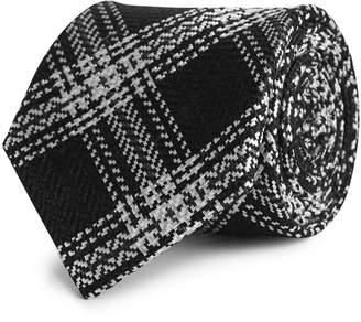 Reiss James Silk Monochrome Checked Tie