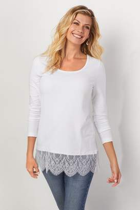 Soft Surroundings Madame Lace Tee