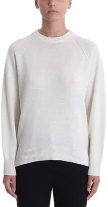 Theory Ivory Cashmere Crewneck Sweater