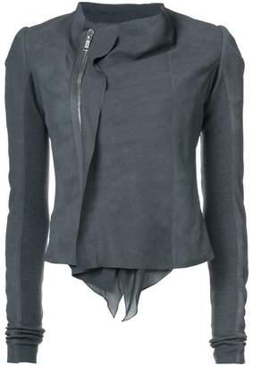 Rick Owens low neck biker jacket