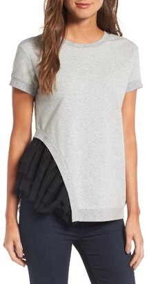 Women's Chelsea28 Mixed Media Sweatshirt $69 thestylecure.com
