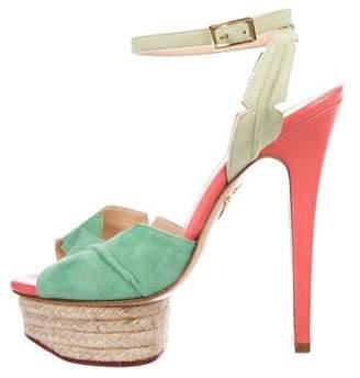 Charlotte Olympia Peep-Toe Platform Sandals