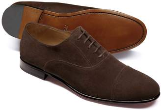 Charles Tyrwhitt Chocolate Suede Oxford Shoe Size 8