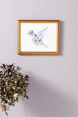 Artfully Walls Pressed Floral Hummingbird Wall Art