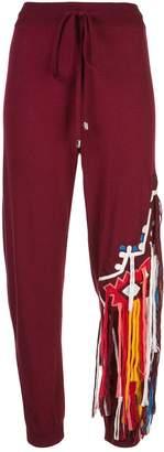 Oscar de la Renta fringe embellished knitted trousers