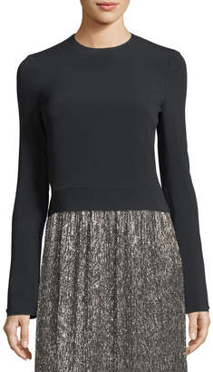 David Koma Crewneck Zip-Back Top