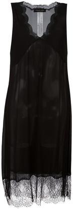 Twin-Set sheer scallop edge midi dress $239.89 thestylecure.com