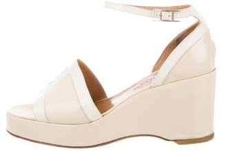 Hermes Leather Wedge Sandals