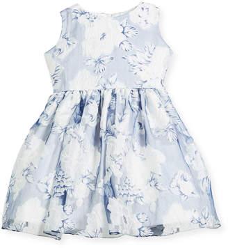 Helena Camellias Organza Sleeveless Dress, Size 7-14