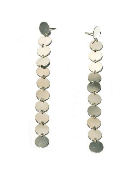 Styleserver DE Saskia Diez Ohrhänger Multi Paillettes 925 Sterling Silber