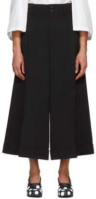 Comme des Garcons Black Wool Gabardine Wide-Leg Trousers