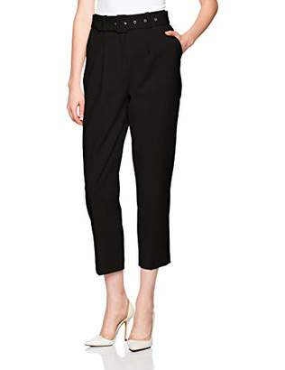 Reesa Rae Women's Smart Belted Highwaist Taper Pants