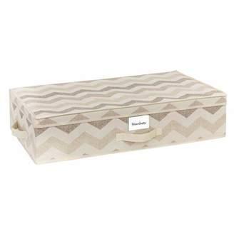 HouseCandie Under-the-Bed Storage Box, Textured Chevron