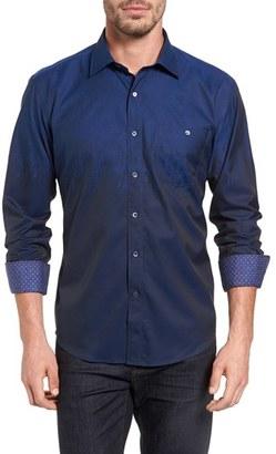 Men's Bugatchi Shaped Fit Ombre Sport Shirt $179 thestylecure.com