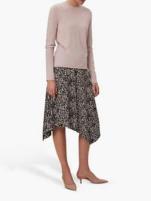 35f057578a31 Winser London Asymmetric Jersey Leopard Print Skirt, Brown