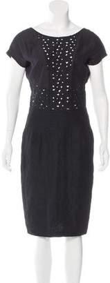 Mayle Eyelet-Accented Midi Dress