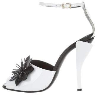Fendi Floral-Accented High-Heel Sandals w/ Tags