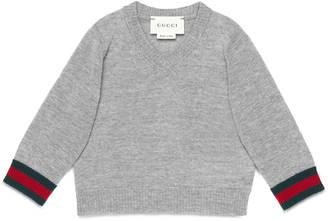 Baby merino Web v-neck sweater $170 thestylecure.com