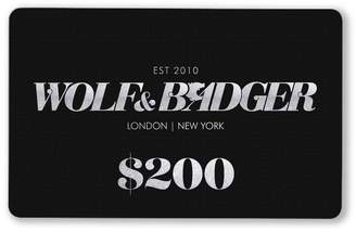 Wolf & Badger Gift Card $200
