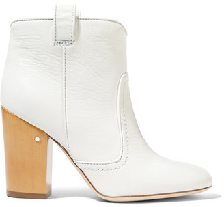 Laurence Dacade - Pete Leather Ankle Boots - White $890 thestylecure.com