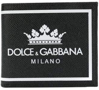 Dolce & Gabbana crown logo print wallet