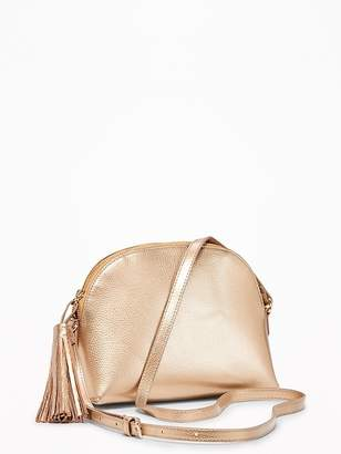 Old Navy Faux-Leather Half-Moon Bag for Women