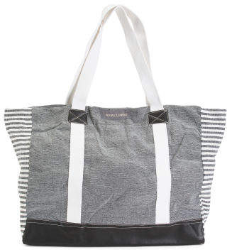 Chambray With Stripes Tote