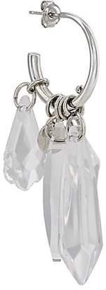 Paco Rabanne Women's Drop Charm Hoop Earring - Silver
