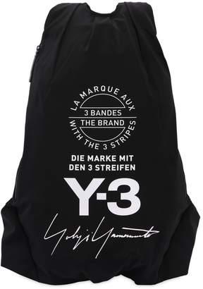 Y-3 Logo Printed Nylon Backpack