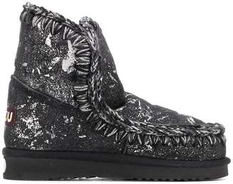 Mou paint splattered eskimo boots