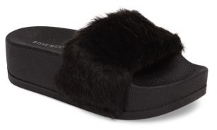 Women's Steve Madden Softey Faux Fur Platform Slide