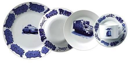 Areaware - new york delft plate set by lovegrove & repucci