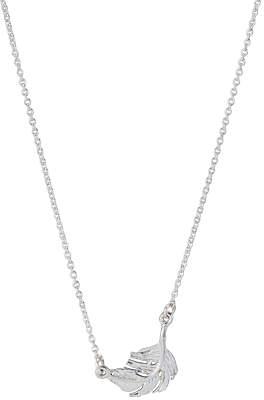 Alex Monroe Little Feather Pendant Necklace, Silver