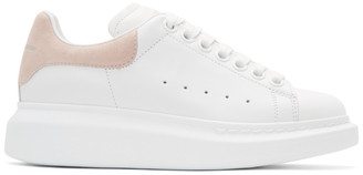 Alexander McQueen White & Pink Oversized Sneakers $575 thestylecure.com