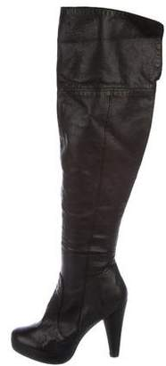 Cynthia Vincent Leather Over-The-Knee Boots