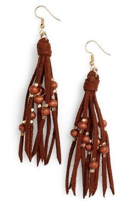 Women's Panacea Suede Fringe Earrings $18 thestylecure.com