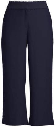 Draper James Scalloped Cropped Pants